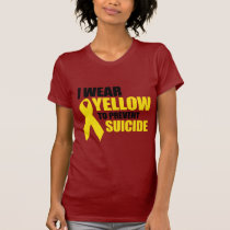 I wear yellow to prevent suicide T-Shirt