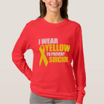 I wear yellow to prevent suicide - T-Shirt