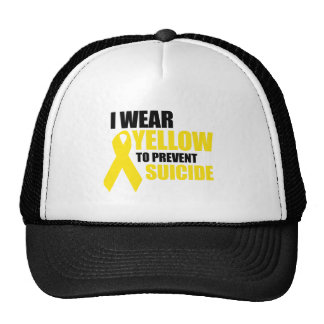 I wear yellow to prevent suicide trucker hats