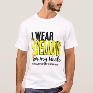 I Wear Yellow Uncle 10 Testicular Cancer T-Shirt