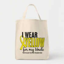 I Wear Yellow Uncle 10 Testicular Cancer Tote Bag