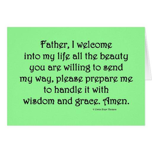 I welcome beauty card