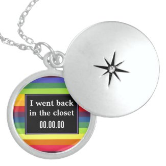 I went back in the closet - Rainbow Colors Sterling Silver Necklace