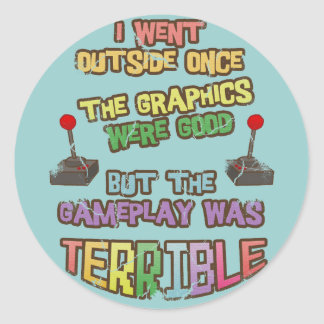 I Went Outside Once Stickers