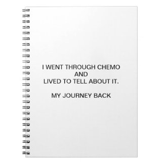 I WENT THROUGH CHEMO AND LIVED TO TELL ABOUT IT SPIRAL NOTEBOOK