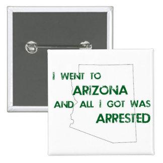 I Went to Arizona.... 2 Inch Square Button