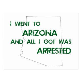 I Went to Arizona.... Postcard