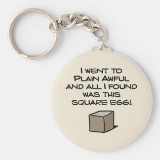 I Went To Plain Awful ... Basic Round Button Keychain