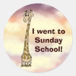 I went to Sunday School Stickers