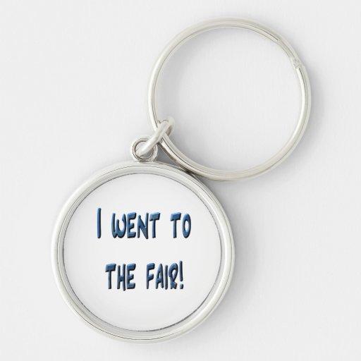 I went to the fair! Blue fair promo, 3D effect Keychain