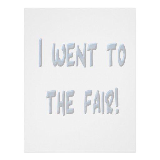 I went to the fair! Blue fair promo, 3D effect Letterhead Design