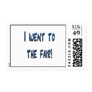 I went to the fair! Blue fair promo, 3D effect Postage Stamps
