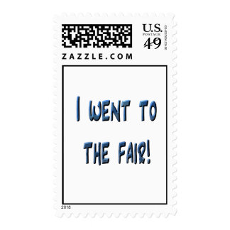 I went to the fair! Blue fair promo, 3D effect Stamp