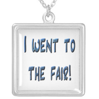 I went to the fair! Blue fair promo, 3D effect Silver Plated Necklace