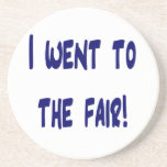 I went to the fair! Solid blue version Fair swag Coasters
