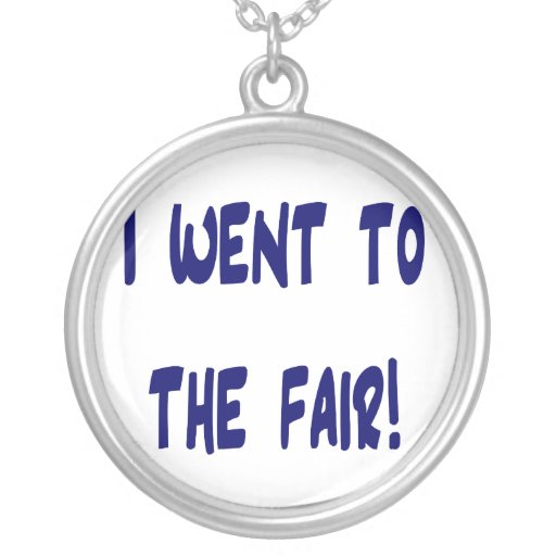 I went to the fair! Solid blue version Fair swag Necklace