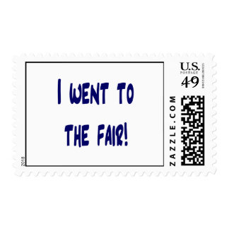 I went to the fair! Solid blue version Fair swag Stamp