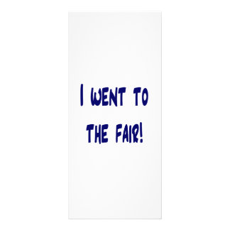 I went to the fair! Solid blue version Fair swag Rack Card Template