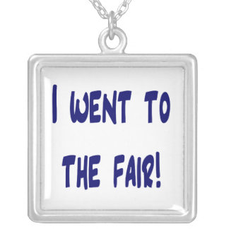 I went to the fair! Solid blue version Fair swag Silver Plated Necklace