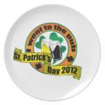 I went to the pub St. patrick's day 2012 Party Plate