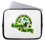 I went to the pub St. patrick's day  yellow green Laptop Sleeves