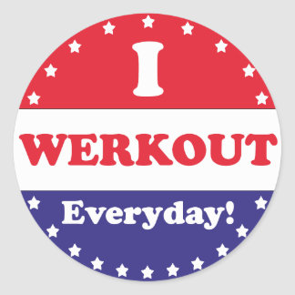 I Werkout Everyday Stickers