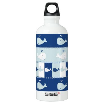 Beach Themed I Whale Always Love You Aluminum Water Bottle