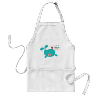 I Whale Shower You With Love Adult Apron