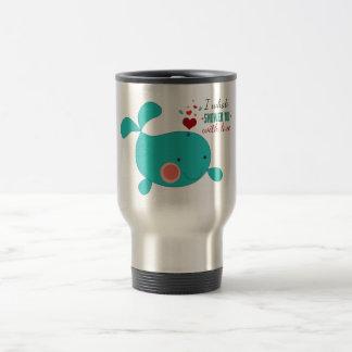 I Whale Shower You With Love Travel Mug