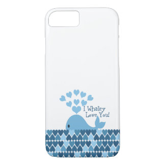 I Whaley Love You! Blue iPhone 8/7 Case