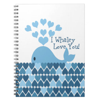 I Whaley Love You! Blue Notebook
