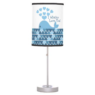 I Whaley Love You! Blue Table Lamp