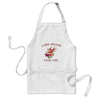I Will Always Love You Adult Apron
