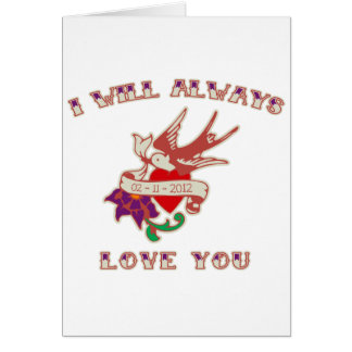 I Will Always Love You Card