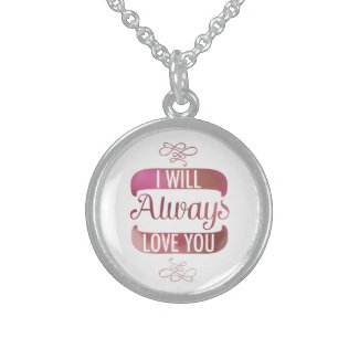 I will Always Love You Pink Custom Necklace