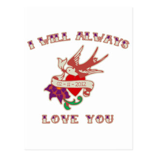 I Will Always Love You Postcard