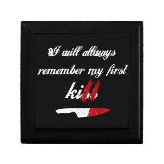 I will always remember my first kill (black) keepsake box