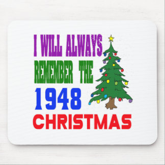 I will always remember the 1948 christmas mouse pads