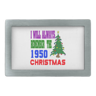 I will always remember the 1950 christmas belt buckle