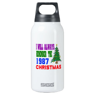 I will always remember the 1987 christmas 10 oz insulated SIGG thermos water bottle