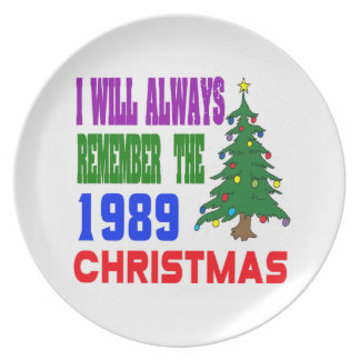 I will always remember the 1989 christmas dinner plate
