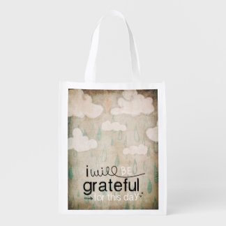 I Will Be Grateful For This Day | Storm Clouds Market Totes