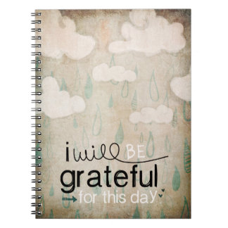 I Will Be Grateful For This Day | Storm Clouds Notebook