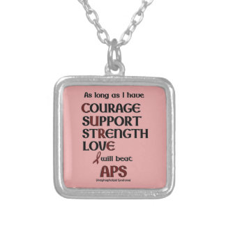 I will beat APS Silver Plated Necklace