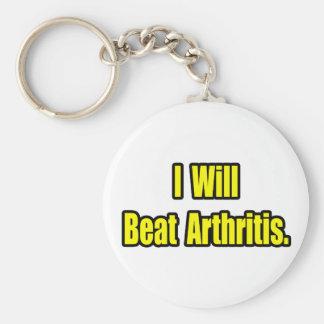 I Will Beat Arthritis Keychain