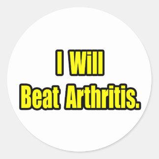 I Will Beat Arthritis Round Stickers