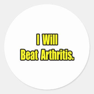 I Will Beat Arthritis Round Sticker