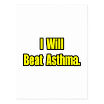 I Will Beat Asthma Postcard