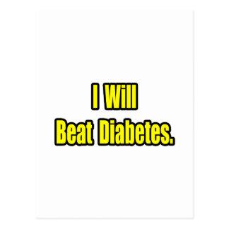I Will Beat Diabetes Postcard