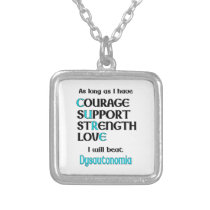 I will beat Dysautonomia Silver Plated Necklace